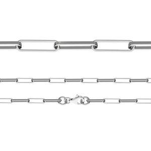 Retiazka Anker - Leštená diamantom*striebro 925*FIO 100 45 cm
