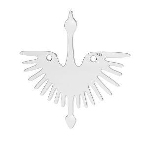 Prívesok - Holubička - Letiaci vták - Spojovací element *striebro 925, LKM-2824 - 0,50 25x25 mm