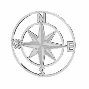 Kompas veterná ružica prívesok striebro 925, LKM-2762 - 0,50 25x25 mm