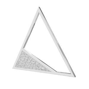 Trojuholník prívesok striebro 925, LKM-2746 - 0,50 17,4x20 mm