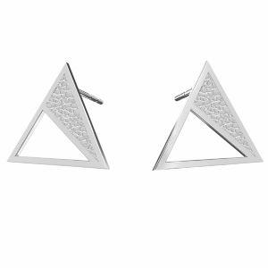 Trojuholník náušnice*striebro 925, KLS LKM-2750 - 0,50 11,3x13,1 mm
