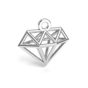 Origami diamant prívesok, striebro 925, CON 1 E-PENDANT 653 11,9x12,6 mm