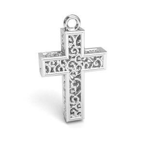 Kríž prívesok, striebro 925, CON 1 E-PENDANT 657 11,8x19,8 mm