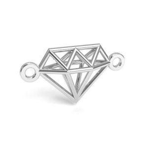 Origami diamant prívesok, striebro 925, CON 1 E-PENDANT 654 9,55x17,6 mm