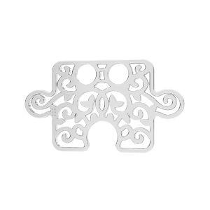 Puzzel prívesok*striebro 925*LKM-2639 - 0,50 11x19 mm