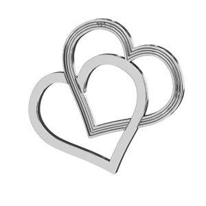 Srdce prívesok ,striebro 925, LK-2190 - 05 18x21 mm