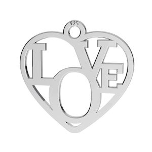 Srdce prívesok ,striebro 925, LK-2677 - 05 15,5x16 mm