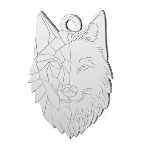 Prívesok vlk*striebro 925, LKM-2223 - 0,50 14x20 mm