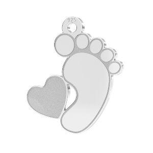 Detské nohy prívesok*striebro 925*LKM-2644 - 0,50 13x14,7 mm (2808 mm 6)