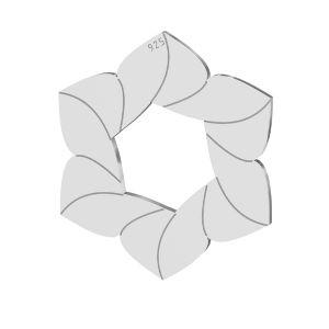 Kvetina privesek, LKM-2788 - 0,50 14,7x17 mm