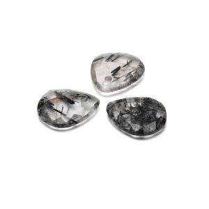 Slza prívesok, Čierny rutilový kremeň  16 mm, polodrahokam