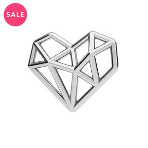 Origami Srdce prívesok striebro, ODL-00299